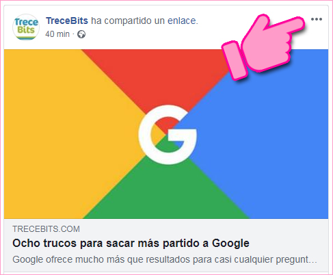 Facebook: elementos guardados
