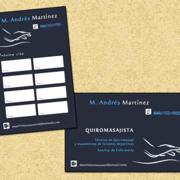 Doble tarjeta: visita y citas