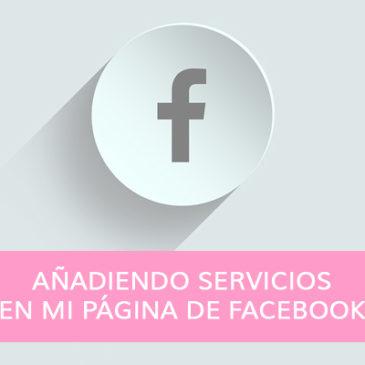 Añadiendo servicios en mi página de Facebook